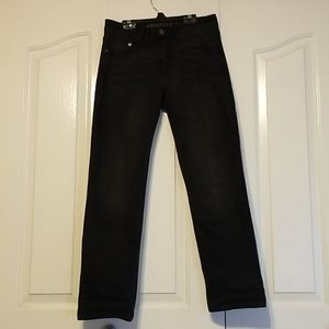 American Eagle Washed-Black Straight Leg Jeans